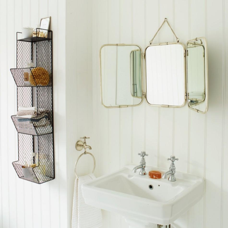 Bathroom Mirror With Shelf Vintage (Image 2 of 20)