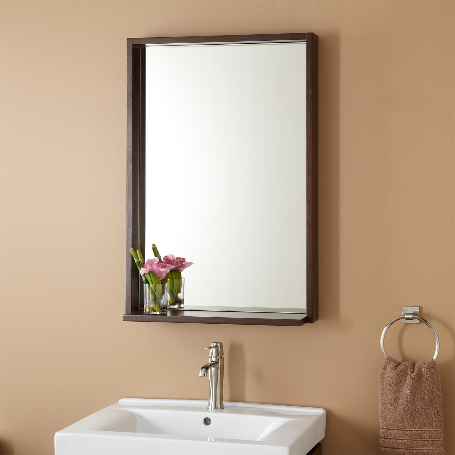 Bathroom Mirrors : Amazing Wenge Bathroom Mirror Home Style Tips With Regard To Mirrors Contemporary (Image 3 of 20)