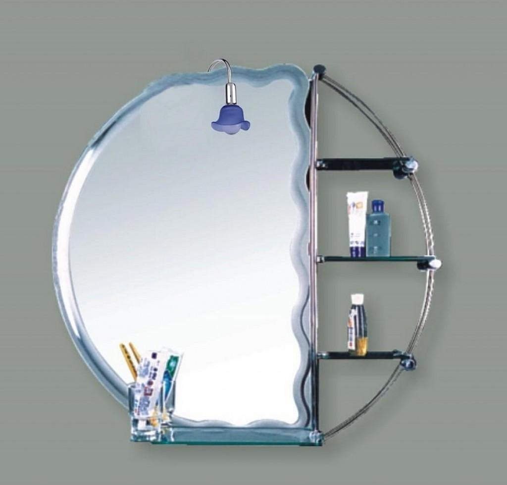 Bathroom: Mirrors For Bathrooms In Modern Grey Themed Bathrooms Intended For Designer Round Mirrors (Image 4 of 20)