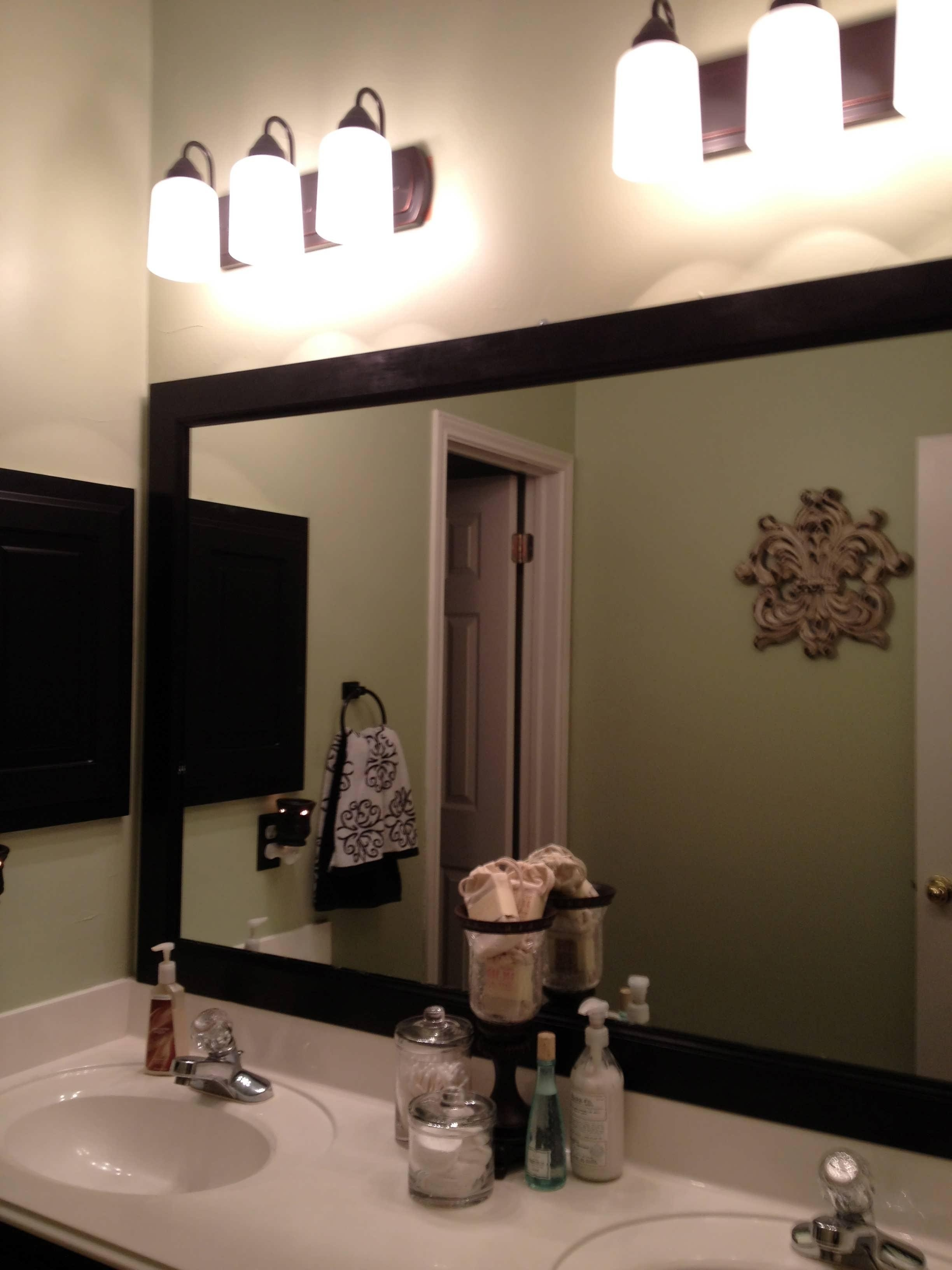 Bathroom : Mirrors Oval Framed Large White Bathroom Mirror Antique Pertaining To Antique White Oval Mirror (Image 7 of 20)