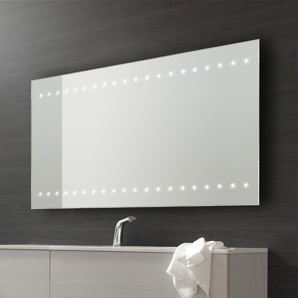 Bathroom Origins Whitestar Illuminated Led Bathroom Mirror – 950Mm In Large Illuminated Mirror (Image 8 of 20)