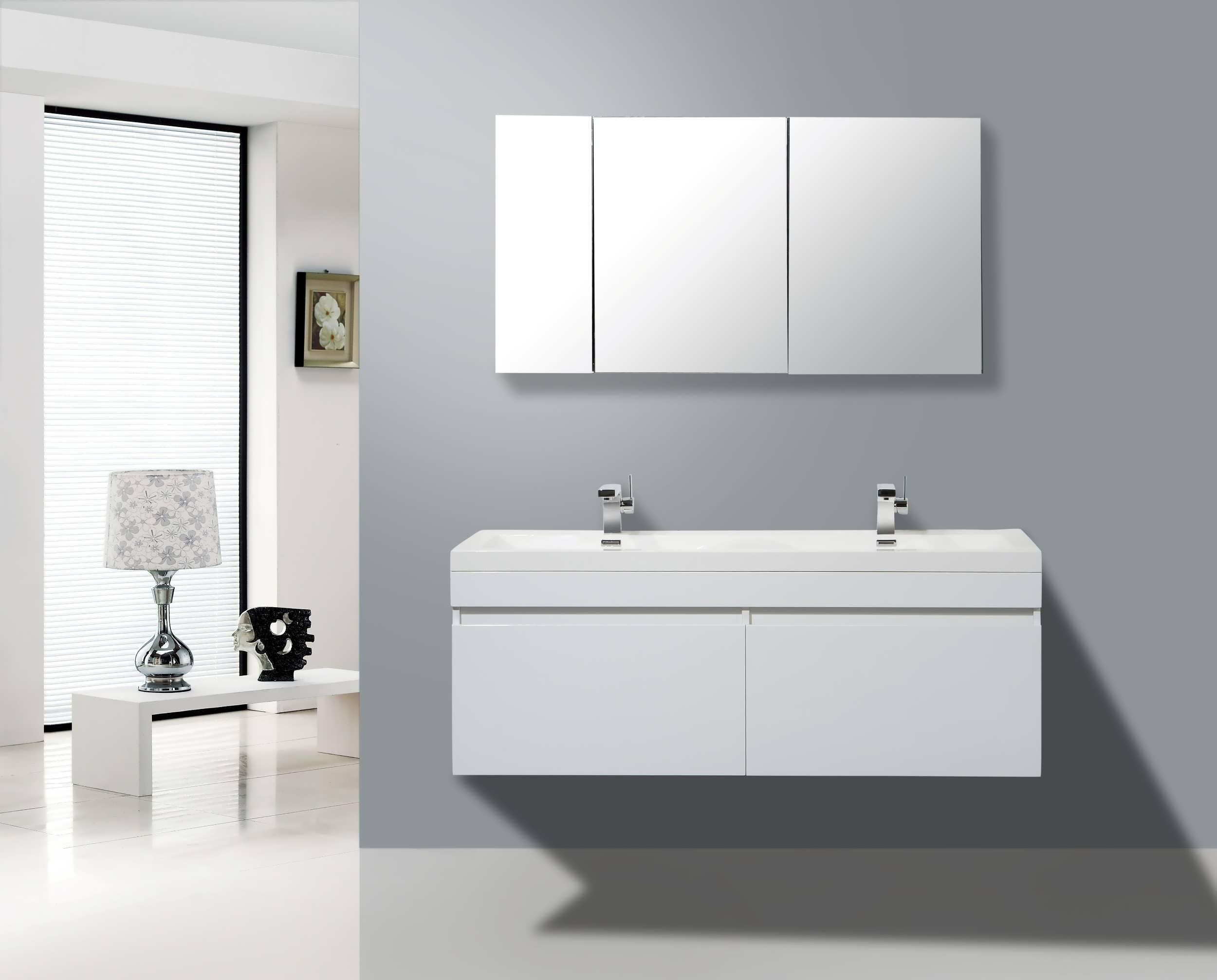 Bathroom : Vanity Mirror Bathroom Vanity Bathroom Mirrors Modern For Large Illuminated Mirror (Image 5 of 20)