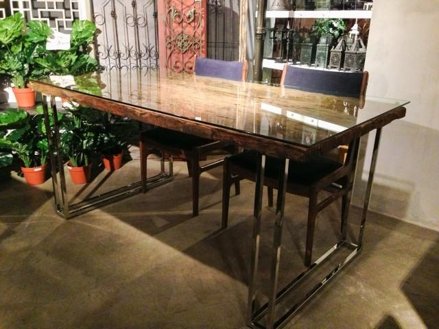 B級品 Fareast Railway Dining Table | 個性派家具専門店 Booms Pertaining To Railway Dining Tables (Image 7 of 20)
