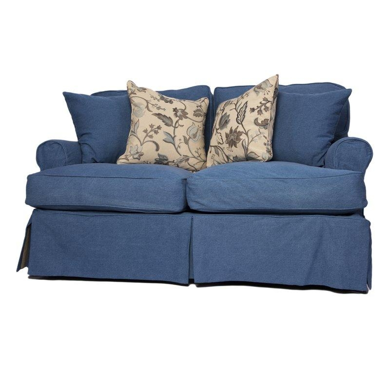 Beachcrest Home Coral Gables T Cushion Loveseat Slipcover Set Inside Loveseat Slipcovers T Cushion (Image 1 of 20)
