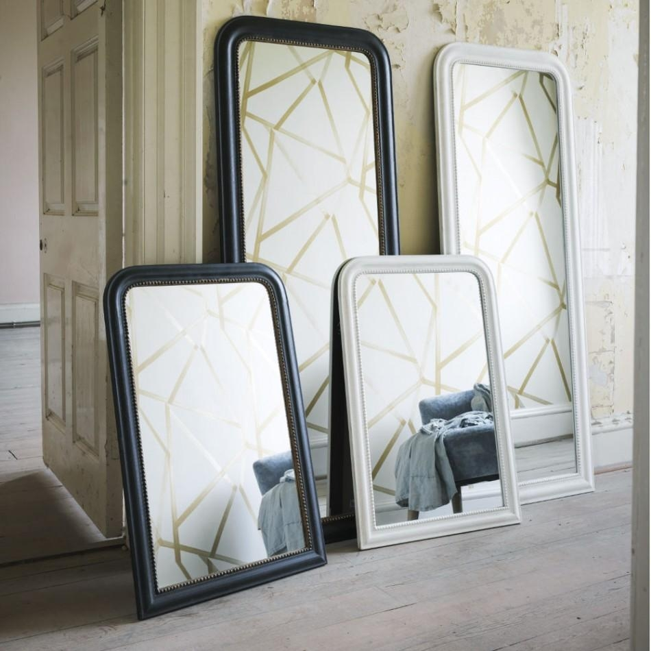 Beaded Antique Mirrors | Mirrors | Graham And Green For White Antique Mirrors (Image 8 of 20)