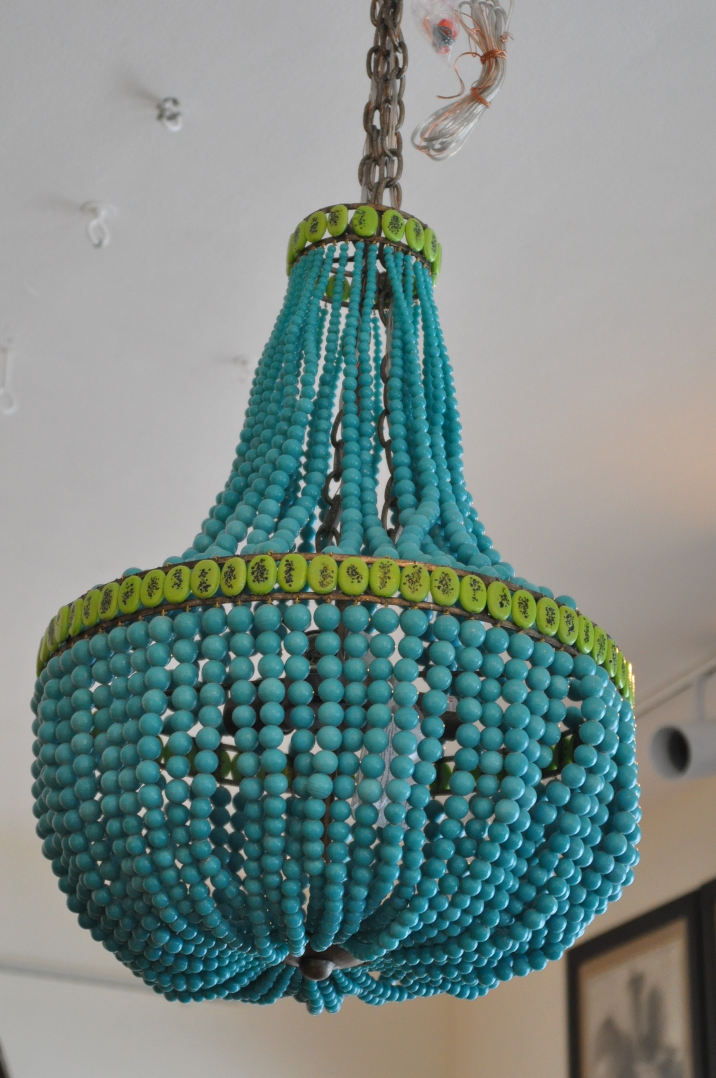 Beaded Empire Style Chandelier Mecox Gardens Regarding Turquoise Empire Chandeliers (Image 8 of 25)