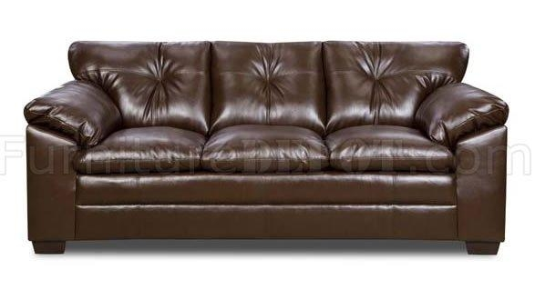 Bean Bonded Leather Sofa & Loveseat Set W/options Within Bonded Leather Sofas (View 8 of 20)