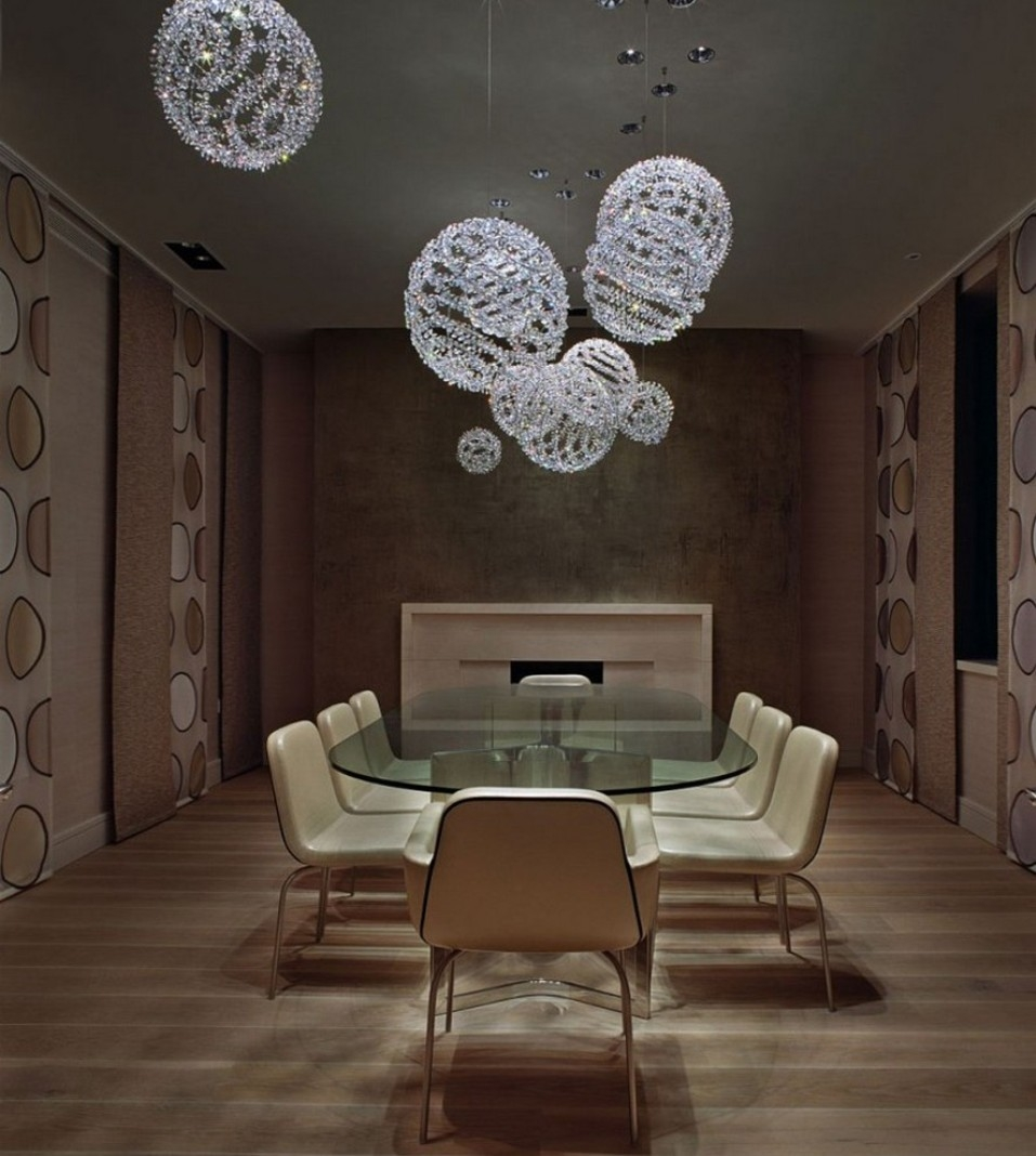 Beauteous Designs With Modern Chandelier For Dining Room With Leather Chandeliers (View 24 of 25)