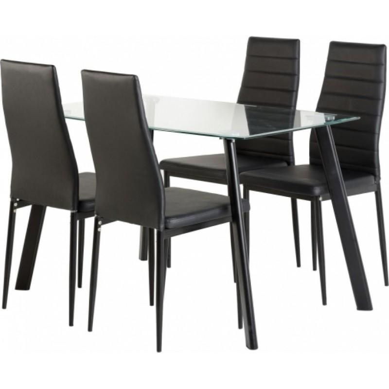 Beautiful 4 Seater Dining Table And Chairs Brighton Square Dining Throughout 4 Seat Dining Tables (Image 6 of 20)
