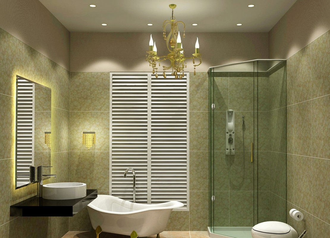 Beautiful Bathroom Ceiling Lights Home Design John In Chandelier Bathroom Ceiling Lights (Image 12 of 25)