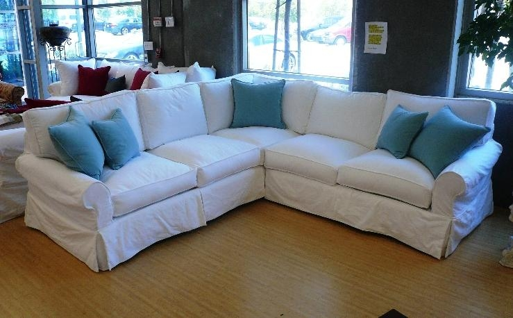 Beautiful Couch Covers For Sectionals Guide To Sofa Slipcovers Regarding Blue Slipcover Sofas (Image 2 of 20)