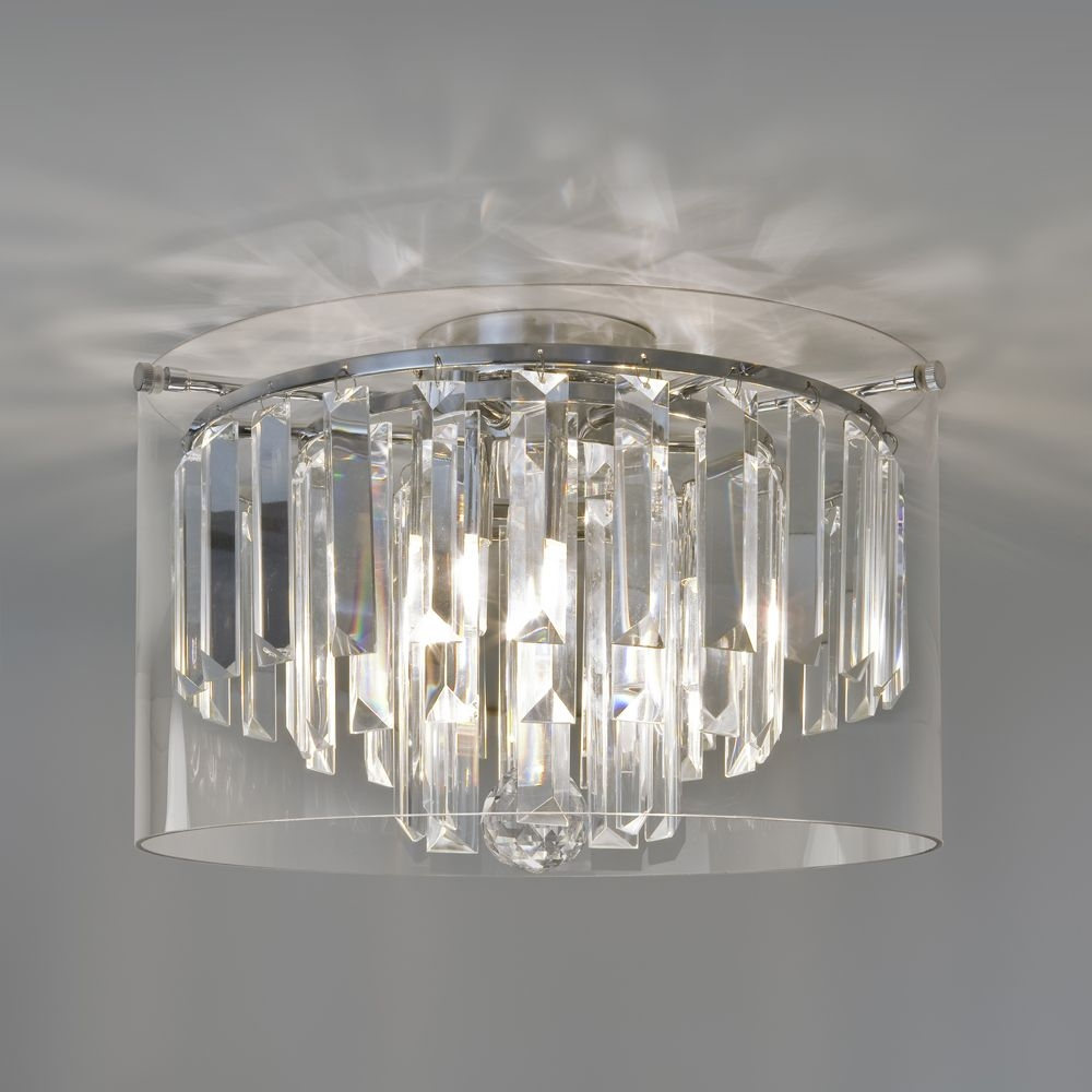Beautiful Crystal Bathroom Lights Photos Home Decorating Ideas In Chandelier Bathroom Ceiling Lights (Image 15 of 25)
