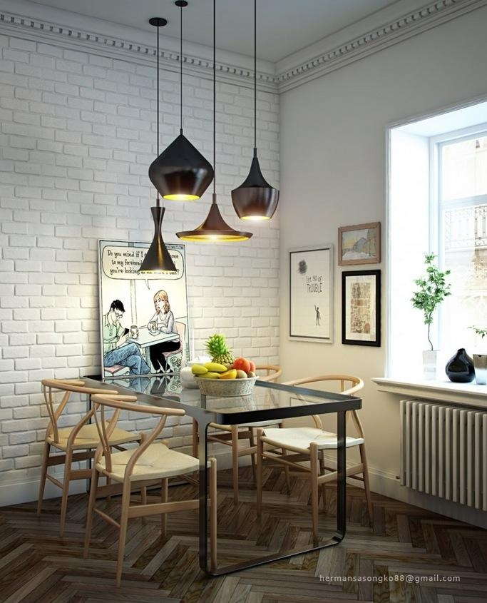 Beautiful Pendant Lights Above The Dining Table Decoist, Dining Inside Lighting For Dining Tables (View 7 of 20)