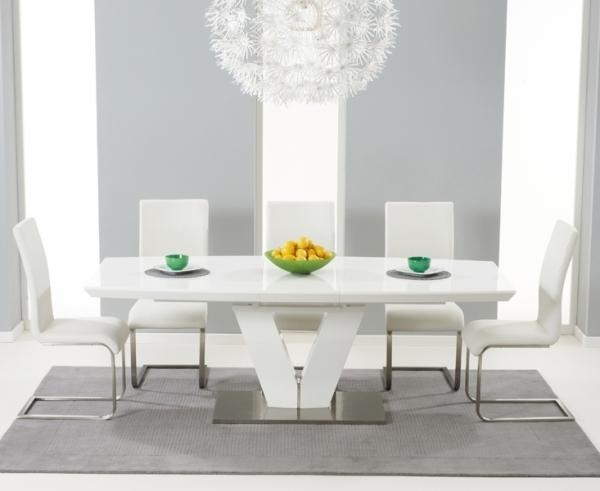 Beautiful White Extending Dining Table And Chairs Extending Dining Throughout Extending White Gloss Dining Tables (View 16 of 20)