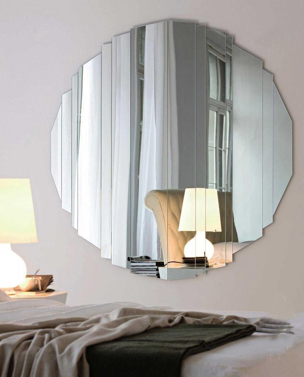 Beauty Round Mirror Wall Decor | Jeffsbakery Basement & Mattress Inside Large Modern Mirror (Image 6 of 20)