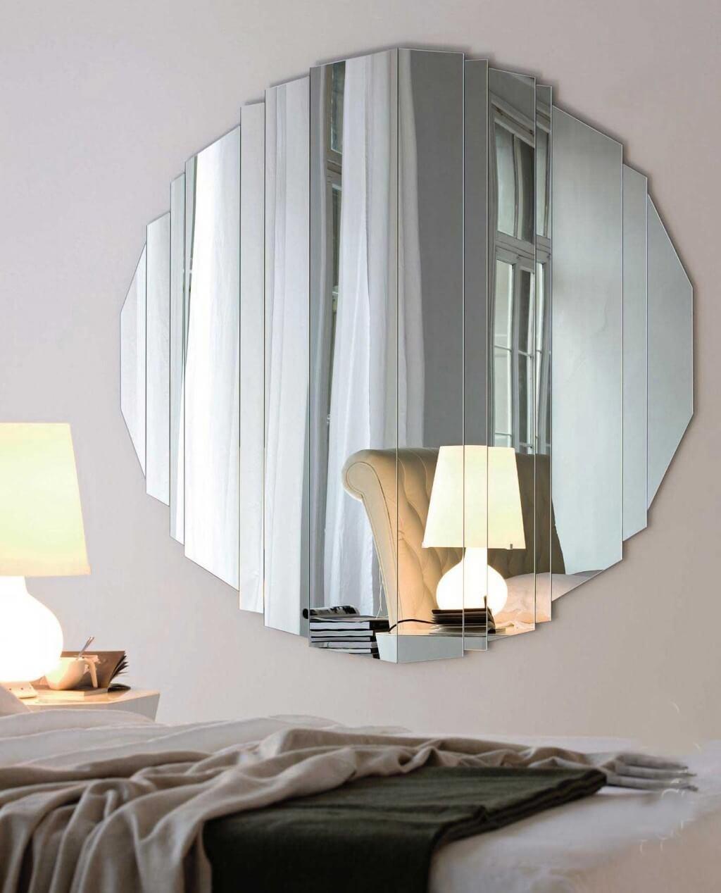 Beauty Round Mirror Wall Decor | Jeffsbakery Basement & Mattress Inside Large Modern Mirror (View 20 of 20)