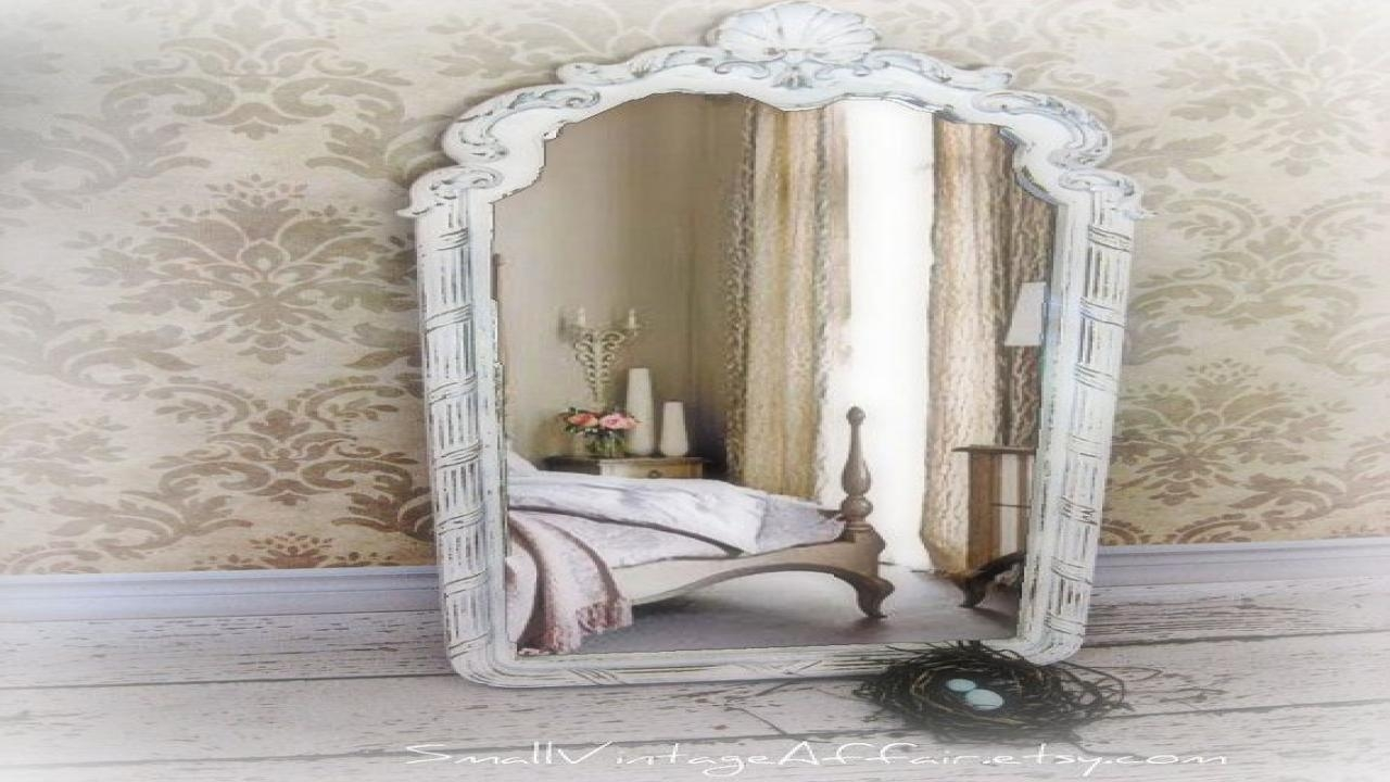 Bedroom Antiqued Mirrored Pendant, Vintage Long Mirror (Image 3 of 20)