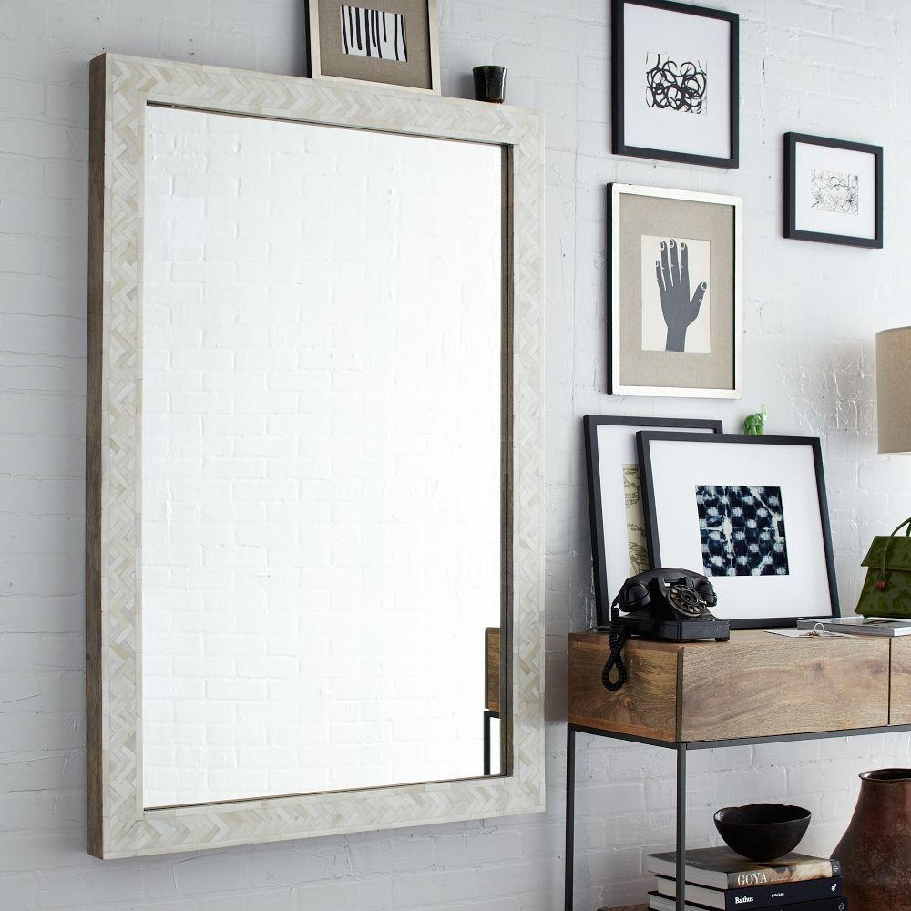Bedroom: Appealing Oversized Mirrors For Home Decoration Ideas Inside Long Antique Mirror (Image 6 of 20)