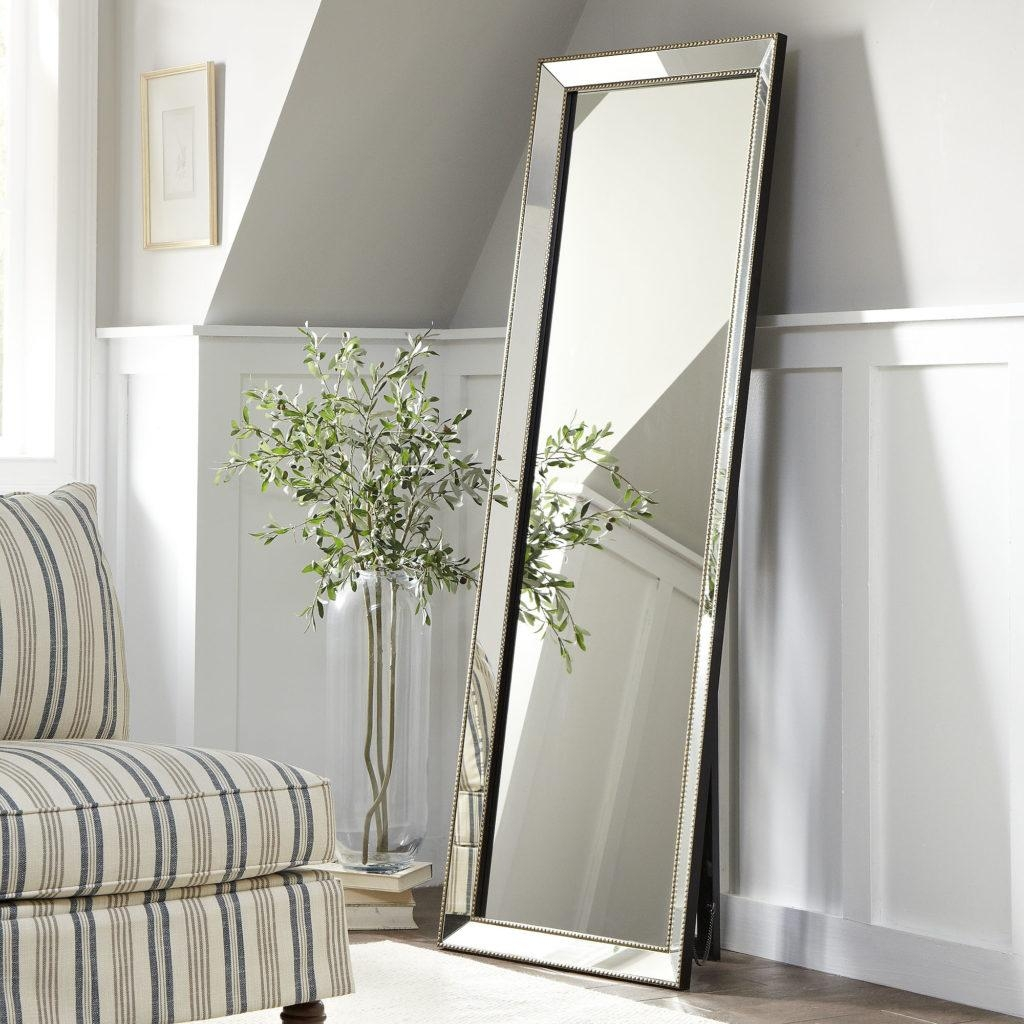 Bedroom: Appealing Oversized Mirrors For Home Decoration Ideas Regarding Vintage Floor Length Mirror (Image 9 of 20)