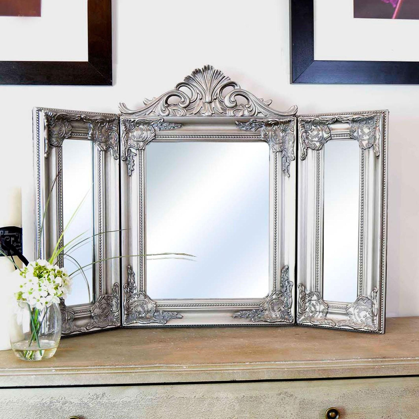 Bedroom Furniture : Makeup Table Mirror Makeup Vanity Mirror White With Standing Table Mirror (Image 4 of 20)