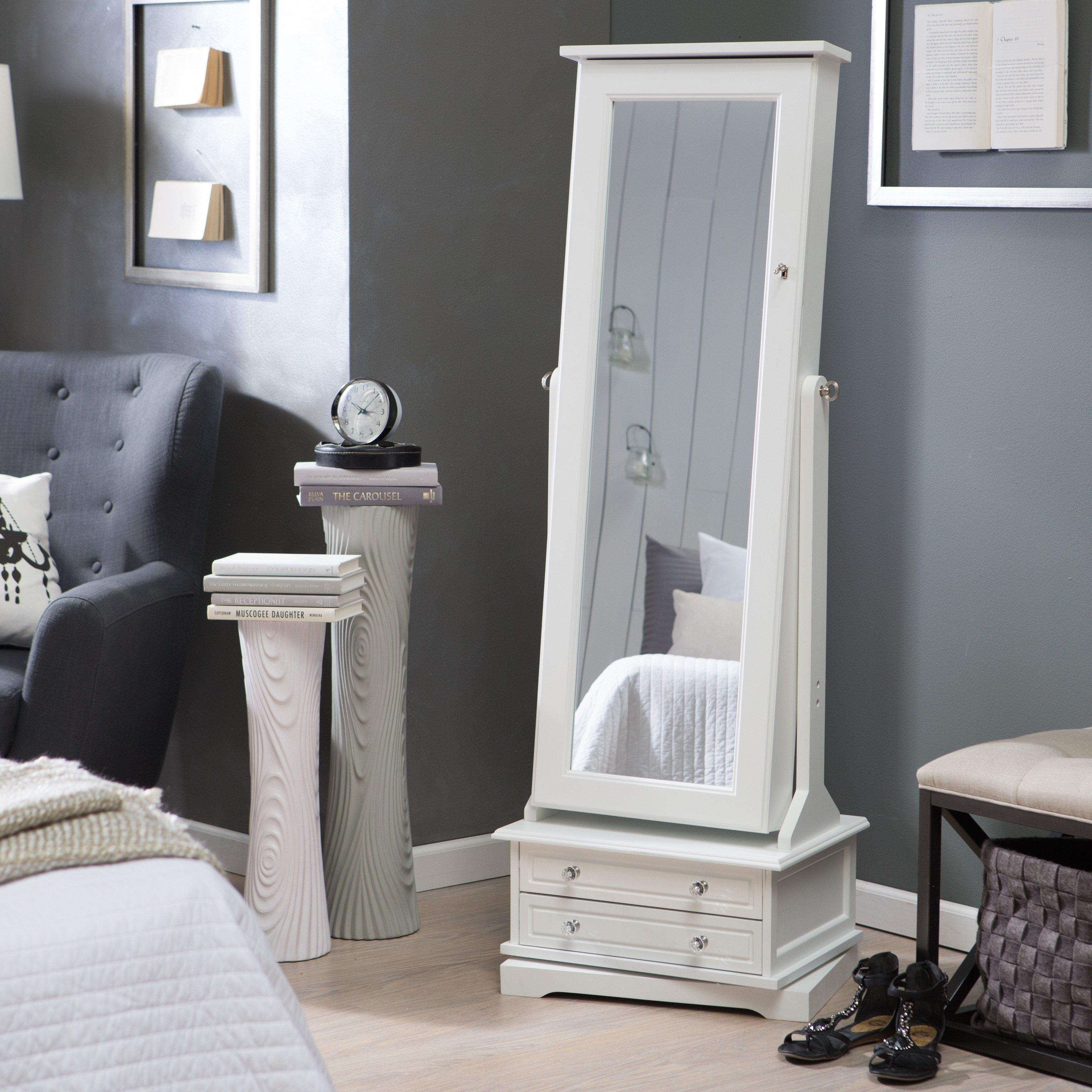 Bedroom Furniture Sets : Ceiling To Floor Large Decorative Mirrors In Silver Free Standing Mirror (Image 3 of 20)