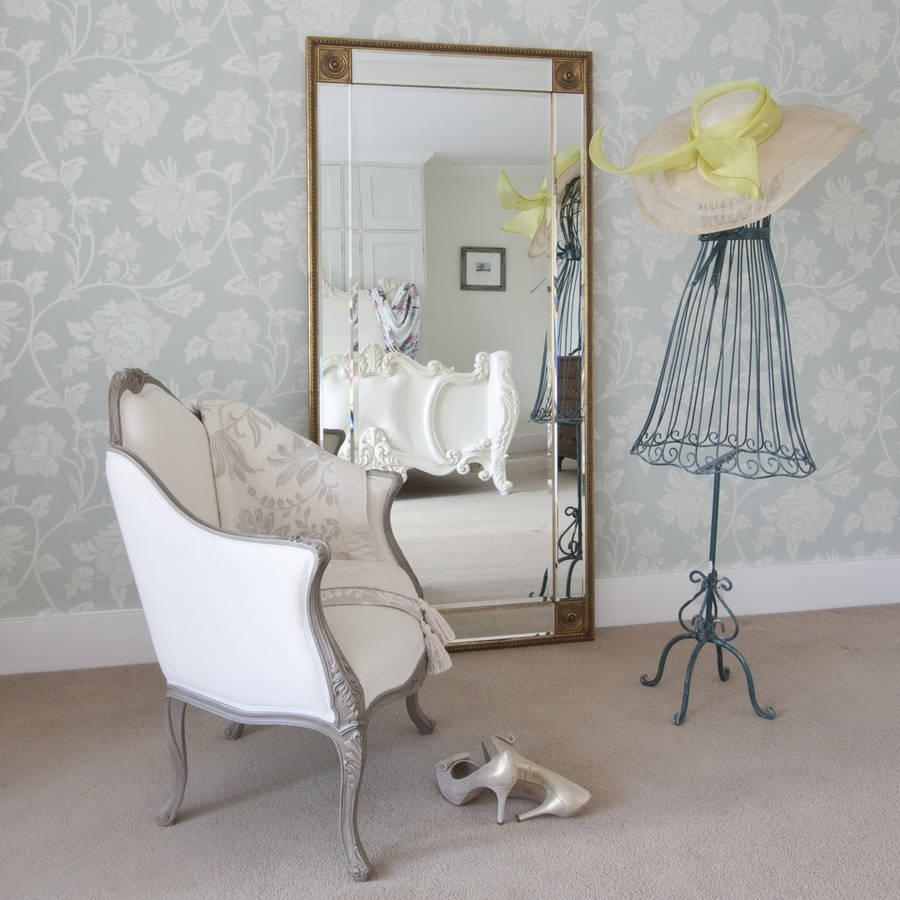 Bedroom Furniture Sets : Shabby Chic Mirror Table Mirror Frameless Regarding Shabby Chic Long Mirror (Image 3 of 20)