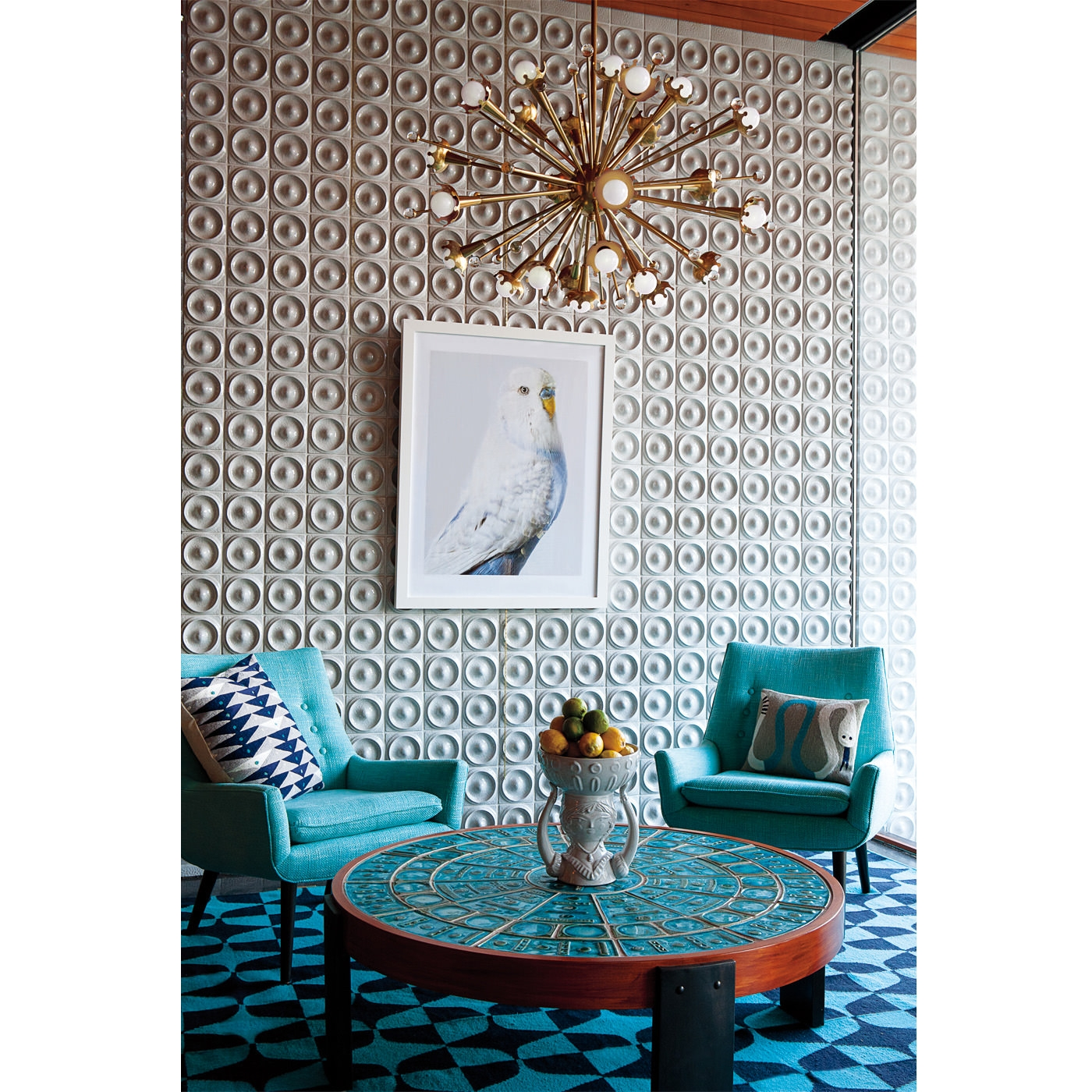 Bedroom Modern Home Lighting Design With Awesome Sputnik Light In Turquoise And Gold Chandeliers (View 6 of 13)