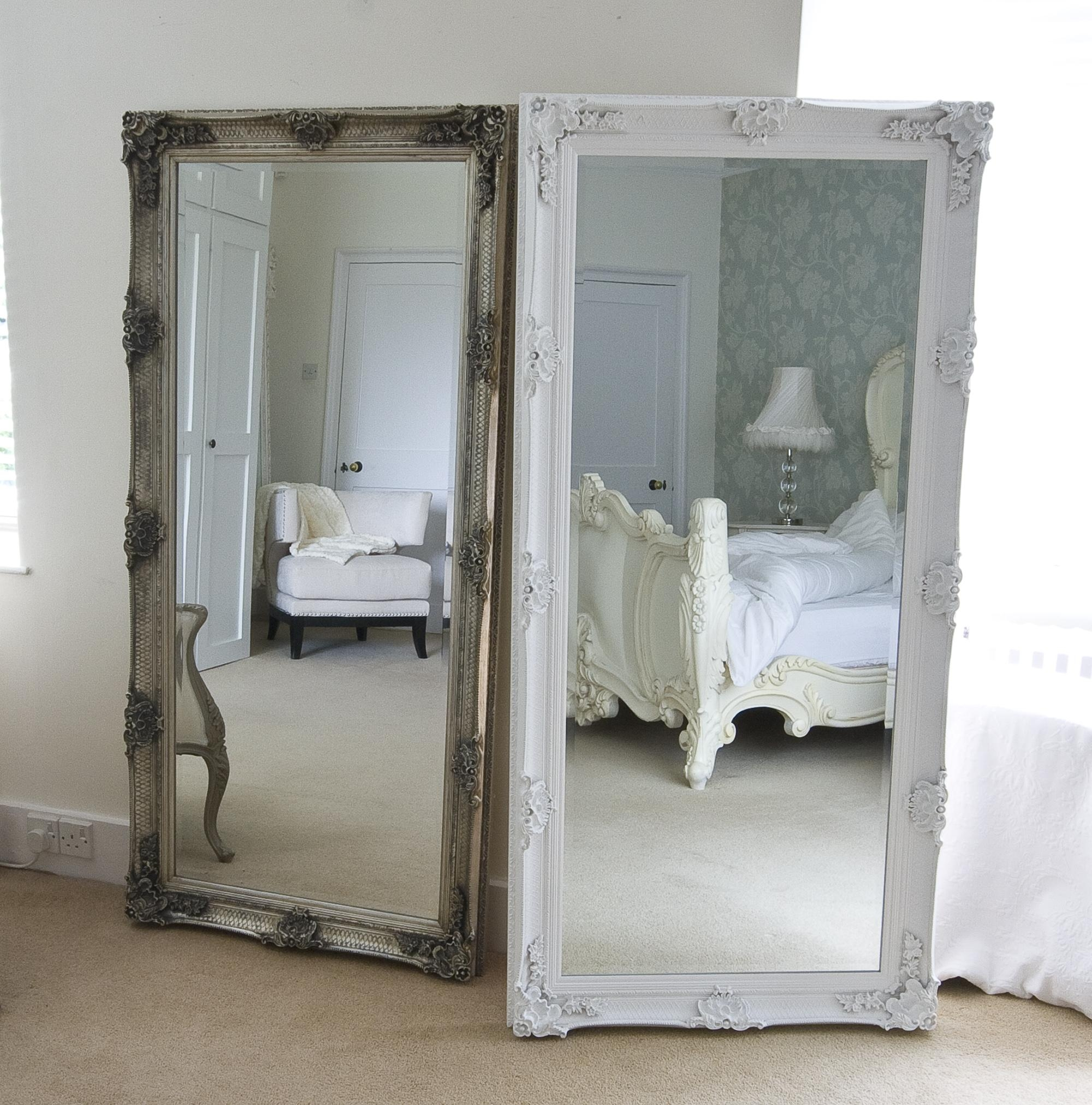 Bedroom: Oversized Mirrors | Oversized Leaner Mirror | Oversized Pertaining To Shabby Chic Long Mirror (Image 5 of 20)
