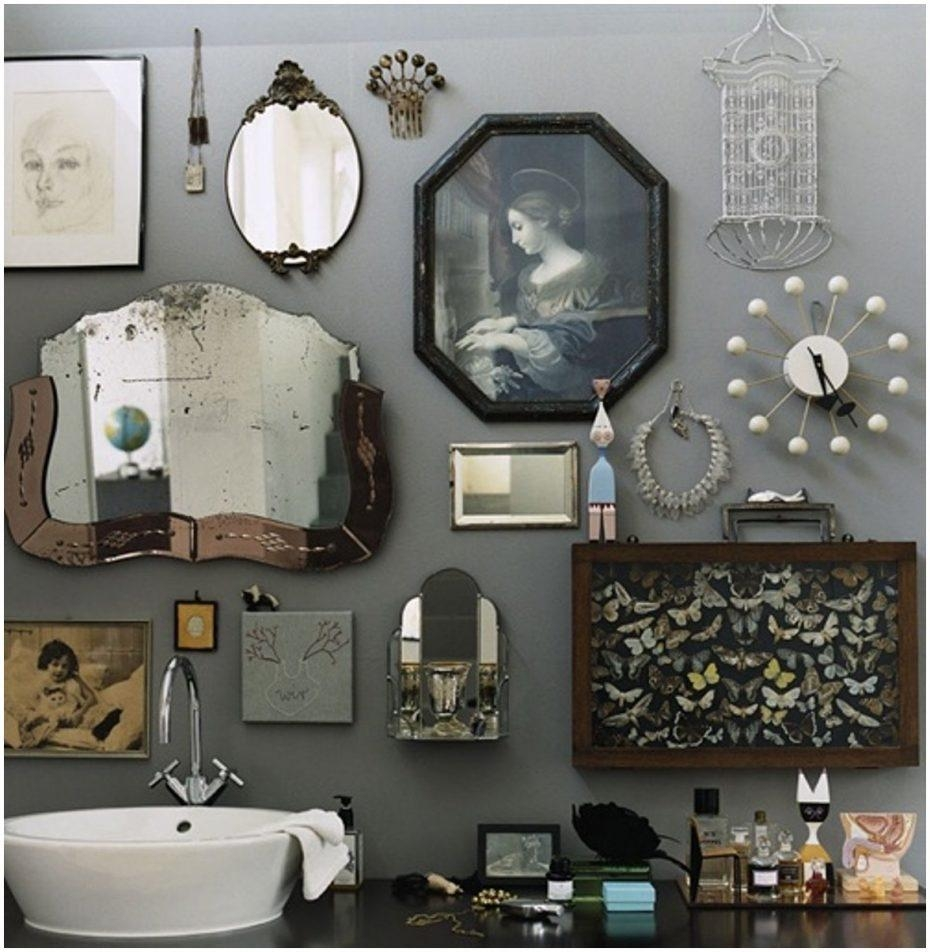 Bedroom ~ Vintage Style Bathroom Mirrors Add Glamour With Small Throughout Retro Bathroom Mirror (Image 6 of 20)
