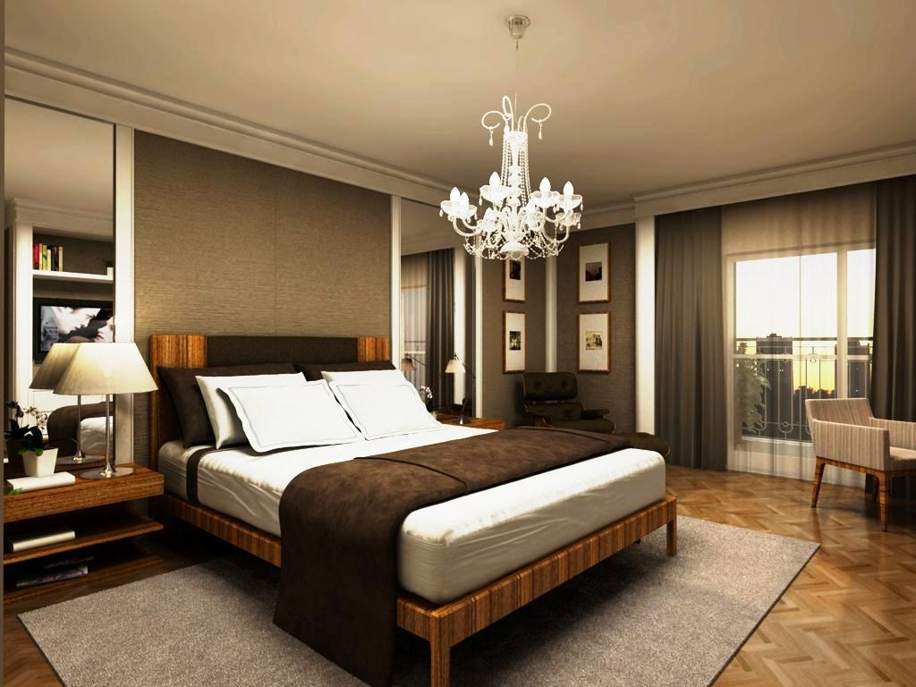 Bedrooms Spacious Bedroom Light Fixtures Ideas Image Chandelier With Regard To Chandeliers In The Bedroom (Image 6 of 25)