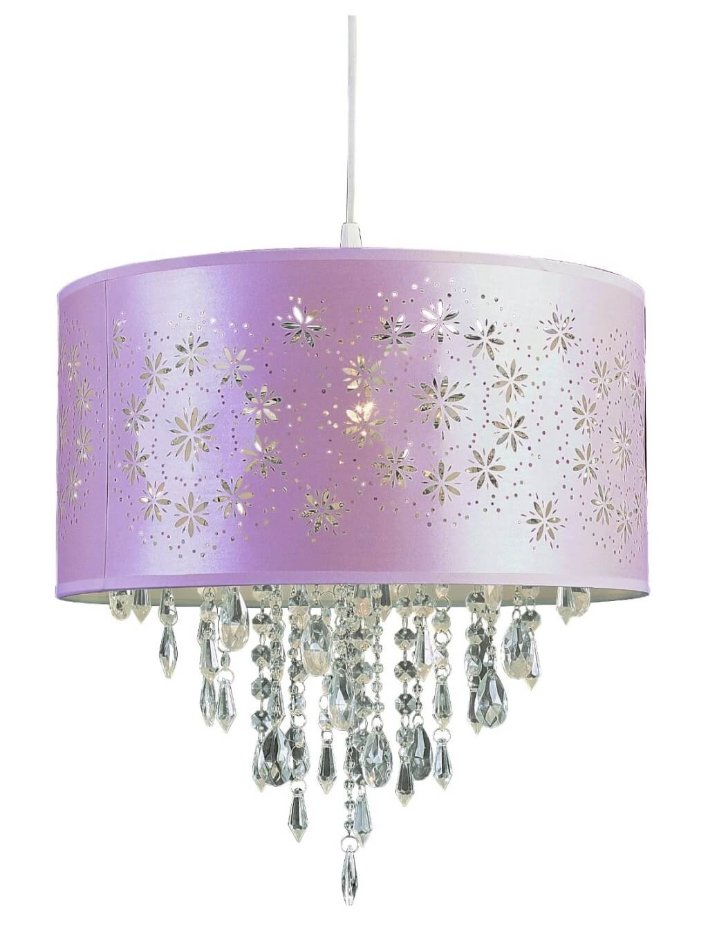 Featured Image of Purple Crystal Chandelier Lighting