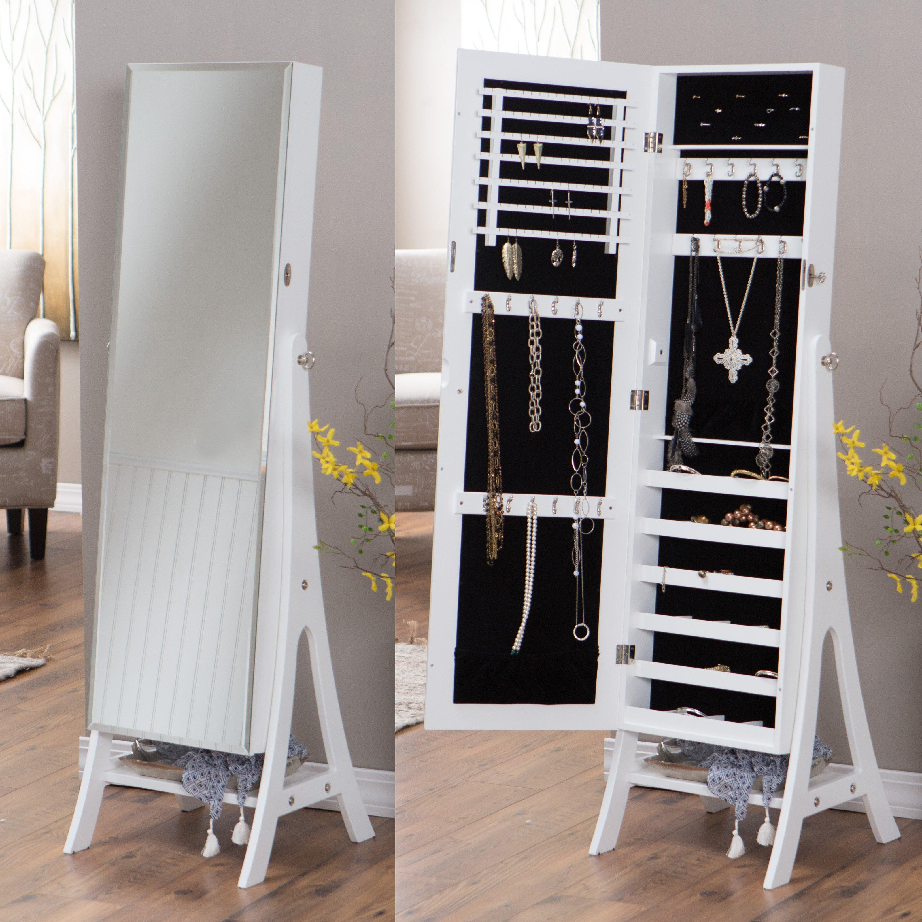 Belham Living White Full Length Cheval Mirror Jewelry Armoire With With Regard To Full Length Cheval Mirror (Image 5 of 20)