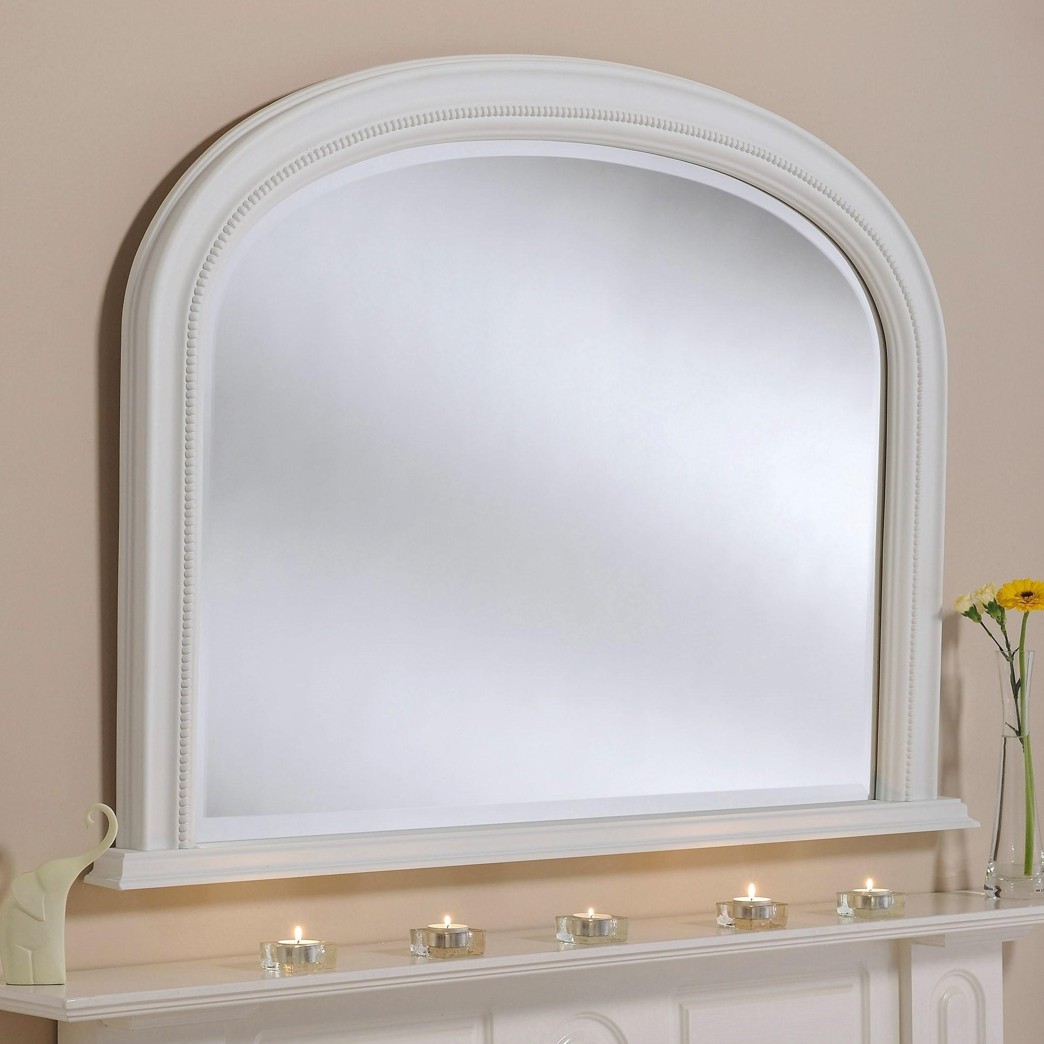 Belle Overmantle Mirror From £269 – Luxury Overmantle Mirrors Regarding White Overmantle Mirror (Image 5 of 20)