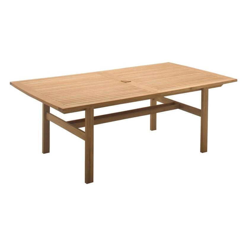 Belmont Extending Teak Dining Table: Expand Your Seating Options Within Outdoor Extendable Dining Tables (Image 4 of 20)