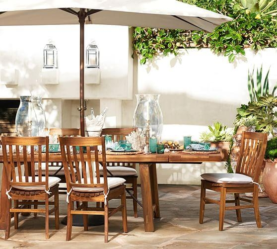 Benchwright Outdoor Rectangular Extending Dining Table | Pottery Barn Pertaining To Extending Outdoor Dining Tables (Image 8 of 20)