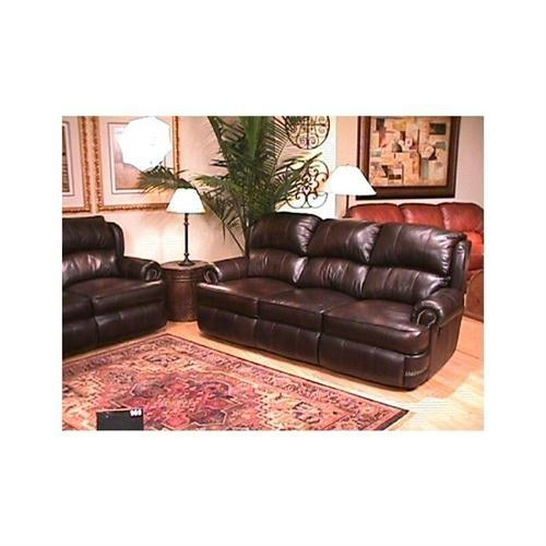 Berkline Reclining Leather Loveseat (Image 5 of 20)