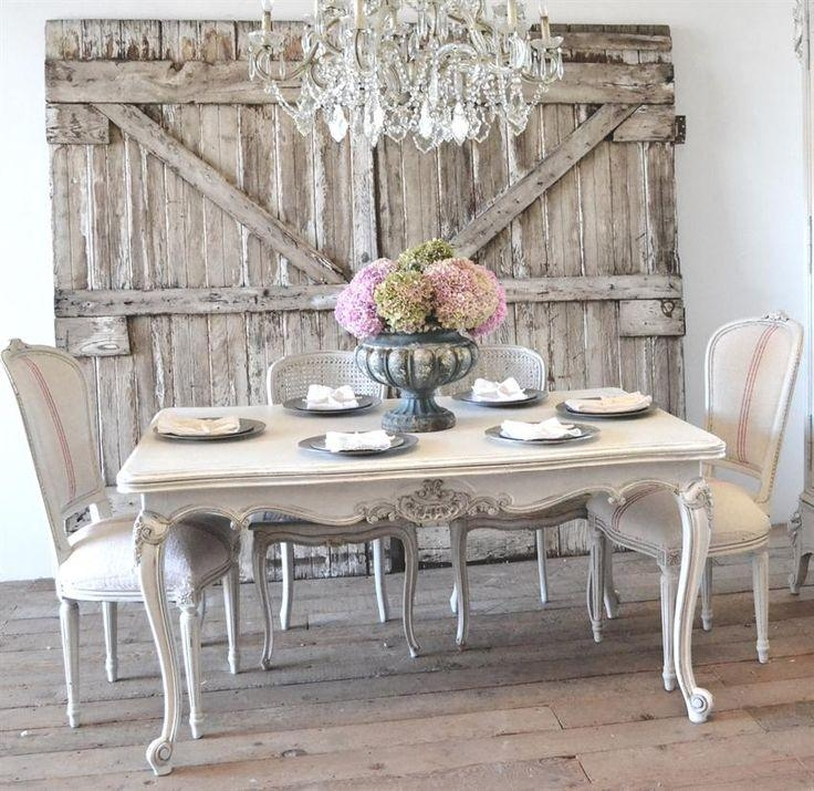 Best 10+ Country Dining Tables Ideas On Pinterest | Mismatched Inside Shabby Chic Cream Dining Tables And Chairs (Image 4 of 20)