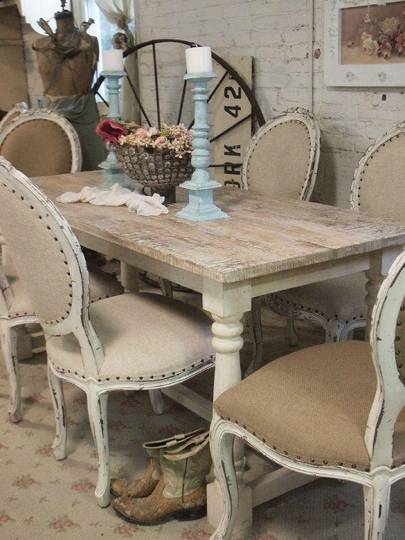 Best 10+ Country Dining Tables Ideas On Pinterest | Mismatched With Regard To French Chic Dining Tables (Image 4 of 20)