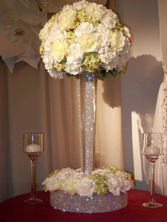 Best 10 Crystal Centerpieces Ideas On Pinterest Wedding Chair Inside Faux Crystal Chandelier Centerpieces (View 13 of 25)