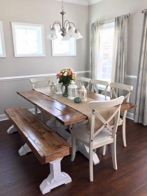 Best 10+ Dining Table Bench Ideas On Pinterest | Bench For Kitchen Throughout Dining Tables And 2 Benches (Image 4 of 20)
