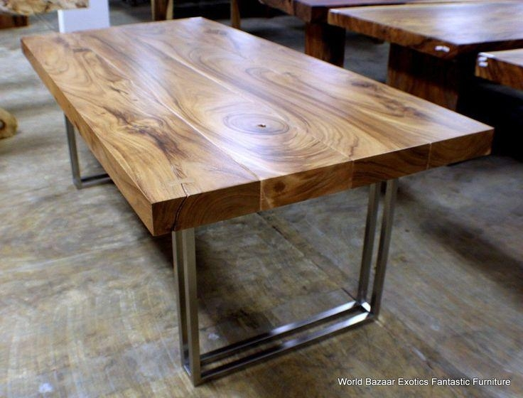 Best 10+ Stainless Steel Table Top Ideas On Pinterest | Metal Inside Dining Tables With Metal Legs Wood Top (View 8 of 20)