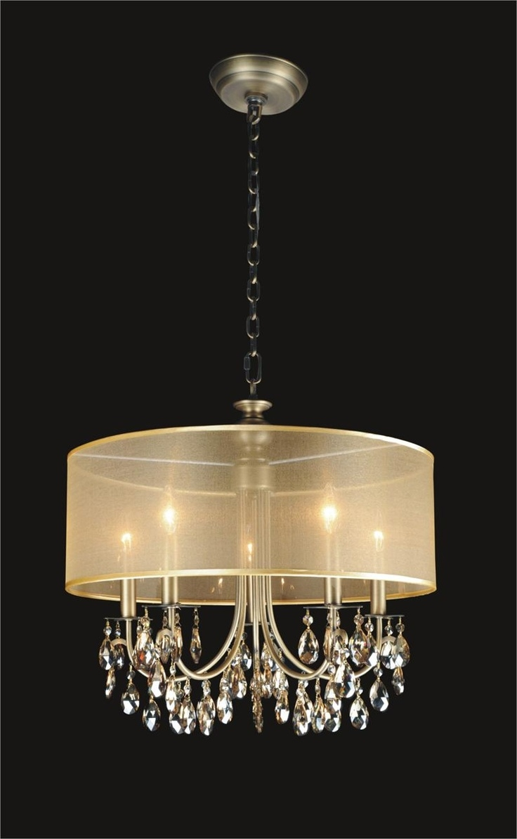 Best 15 Crystal Chandeliers With Shades Images On Pinterest Home Pertaining To Crystal Chandeliers With Shades (View 12 of 25)