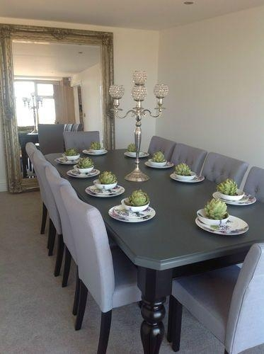 Best 20+ 8 Seater Dining Table Ideas On Pinterest | Made To With Regard To 8 Seater Black Dining Tables (Image 8 of 20)