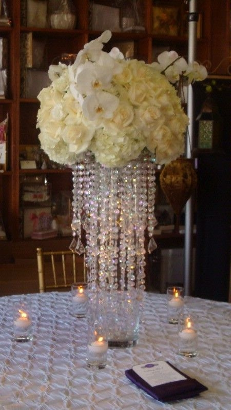 Best 20 Bling Centerpiece Ideas On Pinterest Bling Wedding With Regard To Faux Crystal Chandelier Centerpieces (View 3 of 25)