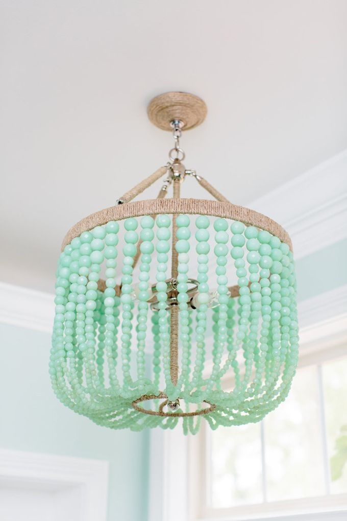 Best 20 Green Chandeliers Ideas On Pinterest Green Lamp Shade Within Turquoise Blue Beaded Chandeliers (Image 7 of 25)