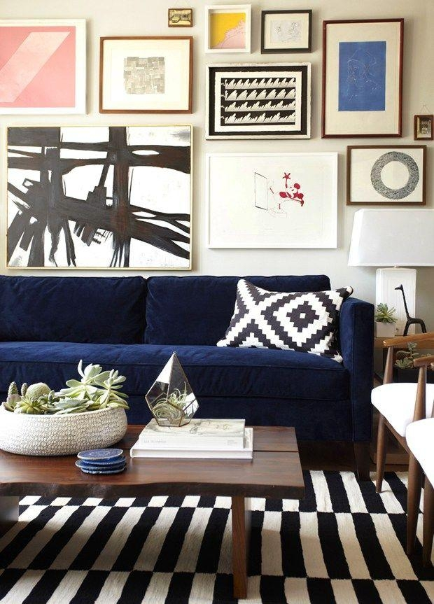 Best 20+ Navy Couch Ideas On Pinterest | Navy Blue Couches, Blue Pertaining To Midnight Blue Sofas (Image 9 of 20)