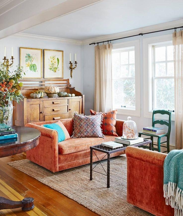 20 Ways To Decorate With Orange And Yellow: Top 14 Burnt Orange Sofas