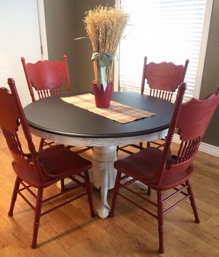 Best 20+ Painted Kitchen Tables Ideas On Pinterest | Paint A Intended For Ivory Painted Dining Tables (Image 4 of 20)