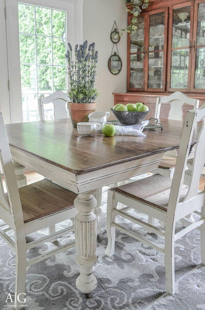 Best 20+ Painted Kitchen Tables Ideas On Pinterest | Paint A With Ivory Painted Dining Tables (View 1 of 20)