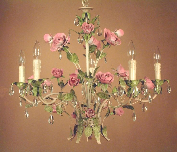 Best 20 Shab Chic Chandelier Ideas On Pinterest Vintage Inside Faux Crystal Chandelier Table Lamps (Image 6 of 25)